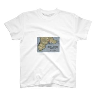 マップ(北海道) T-shirts