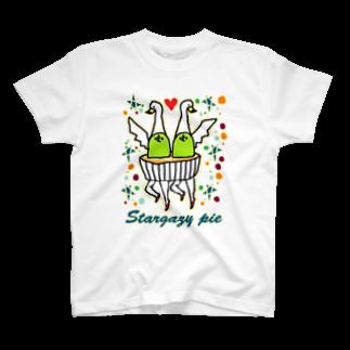 今井優の(・∑・)のパイ T-shirts
