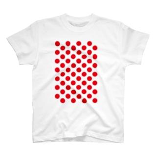 ドット赤フンTシャツ T-shirts