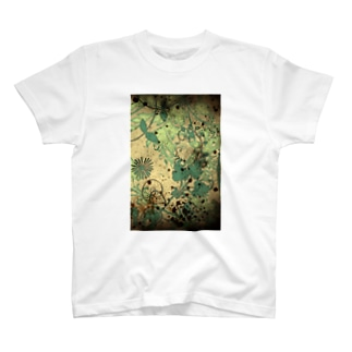 Antique green T-shirts