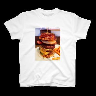 すぎうらまさみのハンバーガー3段 T-shirts