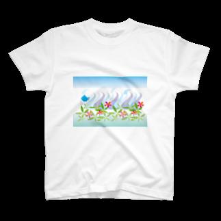 ジルトチッチのデザインボックスのトロピカル・オーシャン T-shirts