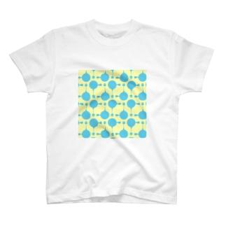 急須と湯呑み(ブルー) T-shirts
