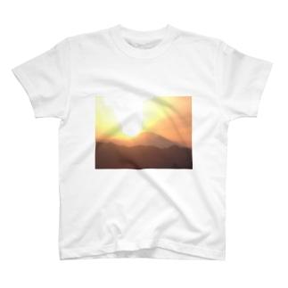 世界遺産、富士山の夕焼け! T-shirts