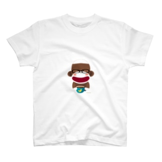 Sock Monkey Rest In A Cafe T-shirts