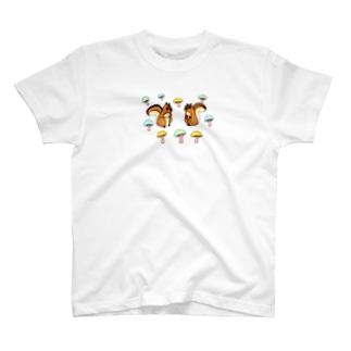 りすときのこ T-shirts