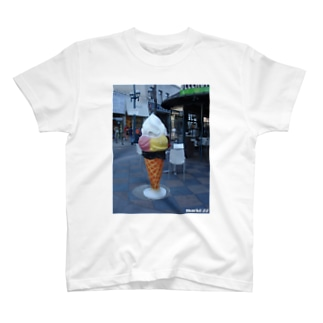 Los Angeles Santa Monica Cream T-shirts