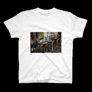 M.MORIのLos Angeles Labrea Cafe T-shirts