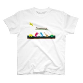 お気らくDinosaur T-shirts