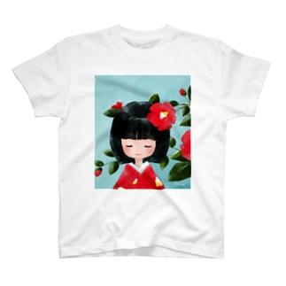 ツバキ(Tシャツ) T-shirts