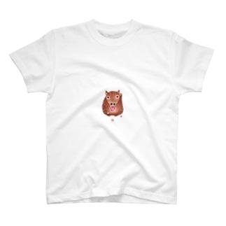 ちえこさんの干支せとら_亥 T-shirts