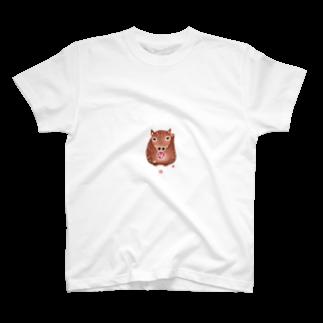 北川敏明/Toshiaxのちえこさんの干支せとら_亥 T-shirts