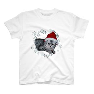 クリスマス猫 T-shirts