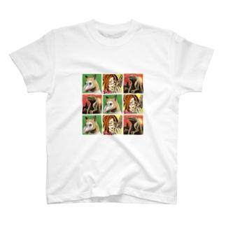 魔法淑女とお供たち T-shirts