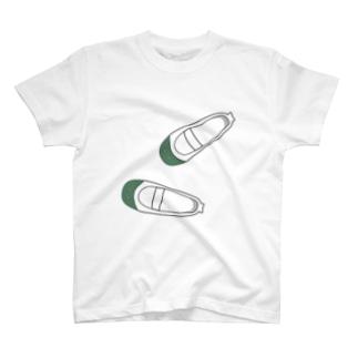 懐かしい脱ぎっぱなしの上履き Tシャツ