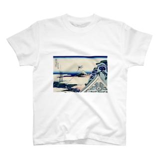 東都浅艸本願寺/葛飾北斎 T-shirts