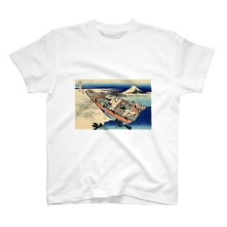 常州牛掘/葛飾北斎 T-shirts