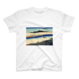武州玉川/葛飾北斎 T-shirts
