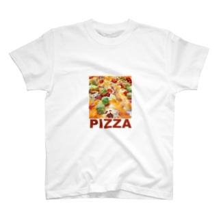 ボクが食べたピザ T-shirts