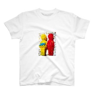 BOY&GIRL②きいろ&あか T-shirts