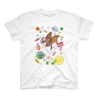 夢見がちなユニコーン-宇宙好きにも T-shirts