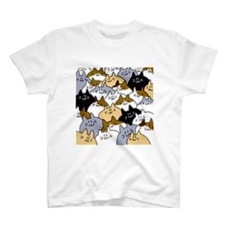 ねこだらけ T-shirts