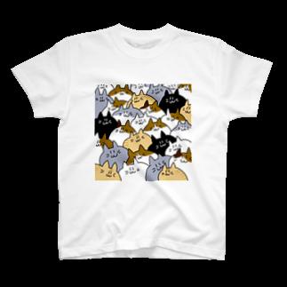 かめ吉のねこだらけ T-shirts