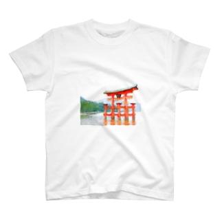 宮島鳥居グッズ T-shirts