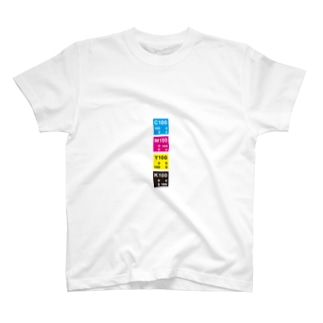 CMYKカラー縦 T-shirts