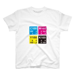 CMYKカラー SQUARE T-shirts