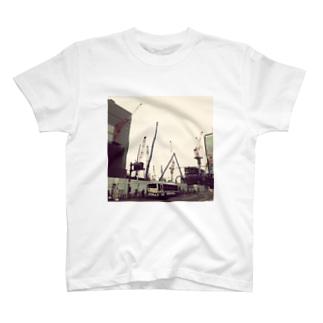 本日のクレーン 20140416b T-shirts