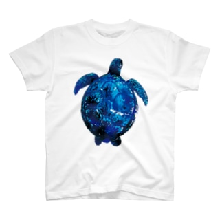 青いウミガメ T-shirts
