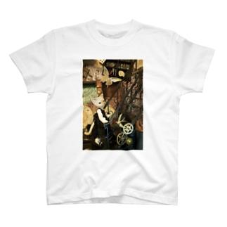 猫と階段 T-shirts