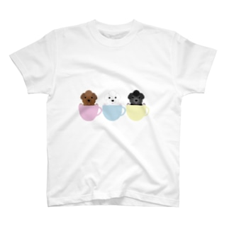 CANの3color Poodles T-shirts