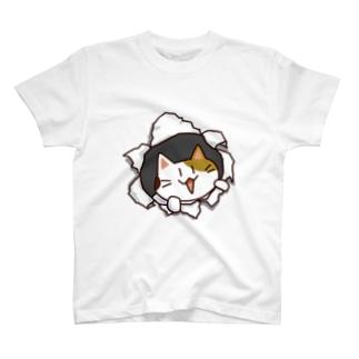 ねこバリッ T-shirts