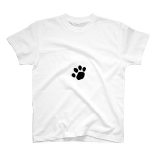 黒猫(肉球) T-shirts