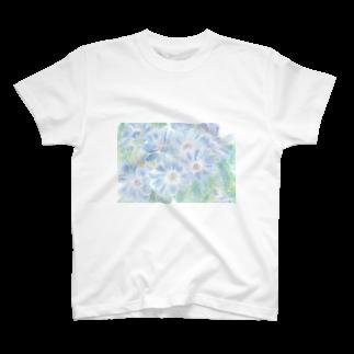 出虹の爽蒼花 T-shirts