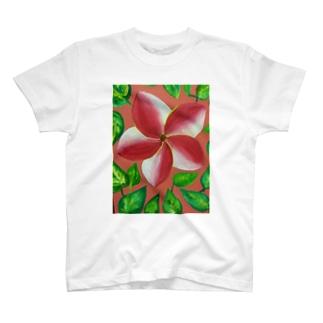 pink flower T-shirts
