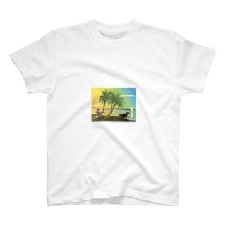 ガンガーの岸辺で笛を吹く T-shirts