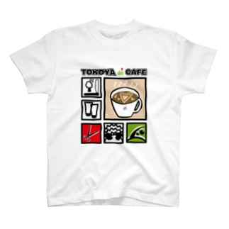 床屋でカフェ T-shirts