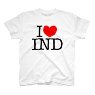 インドビザセンターのI LOVE IND T-shirts