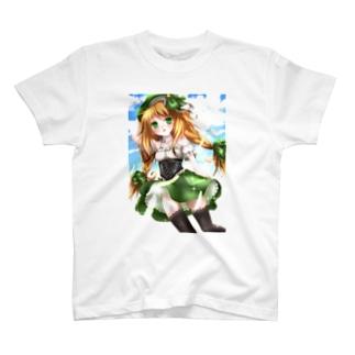 ベレー帽少女 T-shirts