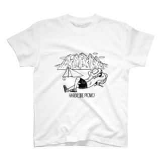 HARDCORE PICNIC!黒プリント Tシャツ