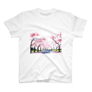 春の散歩道 T-shirts