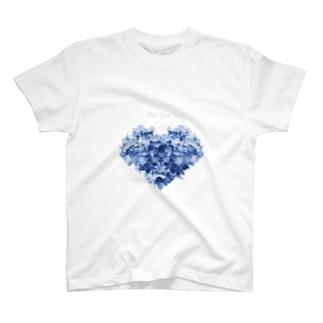 ハートのあじさい T-shirts