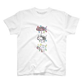 なかよし3にんぐみ T-shirts