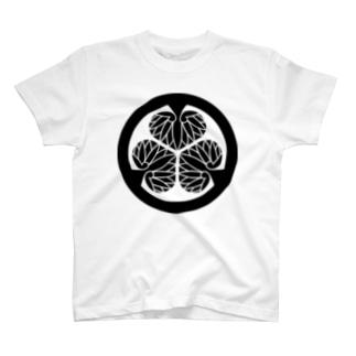 家紋 徳川葵 T-shirts