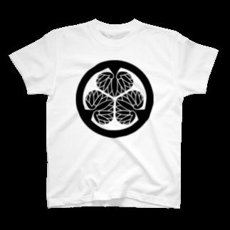 日本の家紋 徳川葵 T-shirts