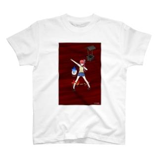 FreeComicHIROの「火の玉KUN」謎の女学生 T-shirts