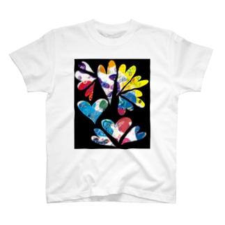 北欧遊びArt ハート T-shirts